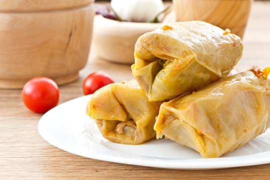 cabbage stuffed with meat