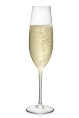 glass of the champagne wine