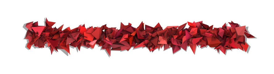 red pink 3d abstract modern sculpture on white