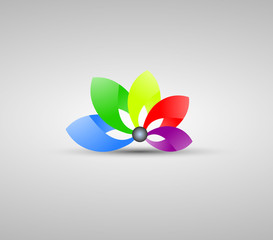 Colorful Logo Flower Symbol