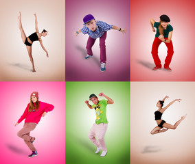 Dancers of different styles.