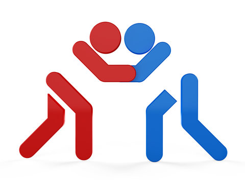 3D sport icon set... 3D symbol...