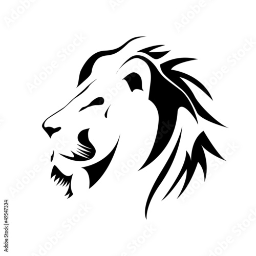Logo Lion Strength And Courage Concept Vector Stock Image And
