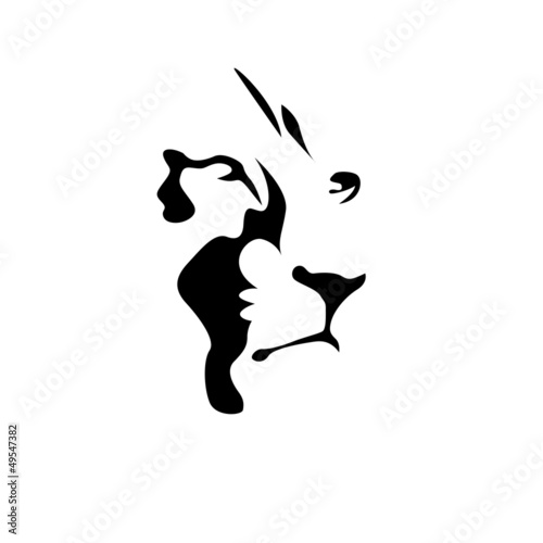 """Logo Lion, strength and courage concept # Vector"" Stock"