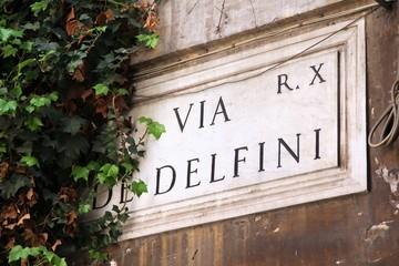 Rome, Italy - Via di Delfini street