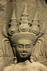 Wall bar-relief, Chau Say Tevoda temple, Cambodia