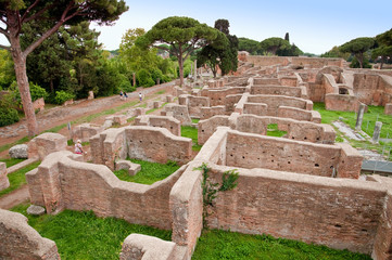 Fototapete - Neptune baths ruins at Ostia Antica - Rome