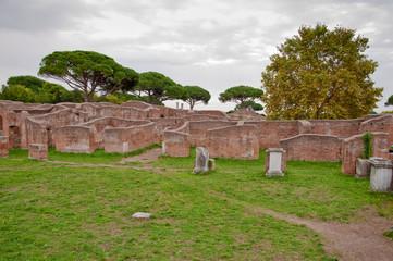 Wall Mural - Ruins from caserma dei vigili del fuoco at Ostia Antica - Rome