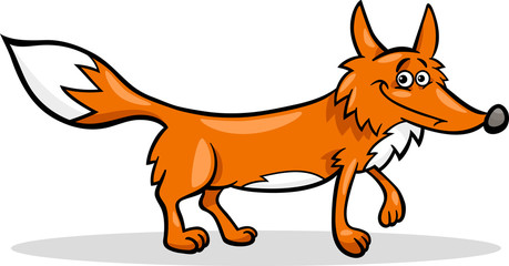 wild fox cartoon illustration