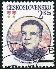 CZECHOSLOVAKIA - 1983: Soviet Marshal Rodion J. Malinovsky