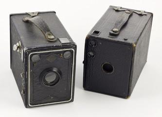 Ancien appareil photo box argentique