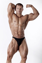 Muscled male model