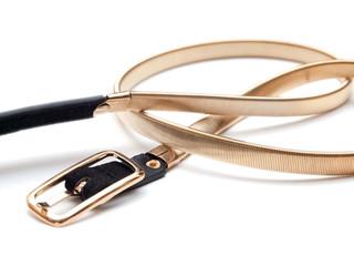 Women's metallic fashion belt