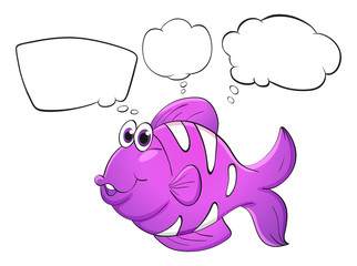 A purple fish with empty callouts