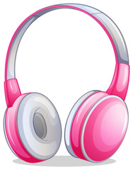 A pink headset