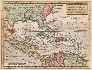 Wall Mural - West Indies old map