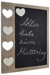 Tafel mit Herzen zum Muttertag