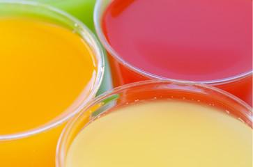 Closeup fruity drinks