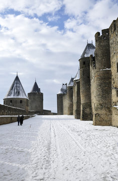 Carcassonne snow