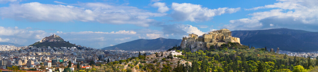 Autocollant pour porte Athenes Beautiful view of Athens, Greece