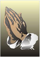 Sterbebild - Betende Hände
