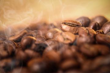roasting coffe with smoke