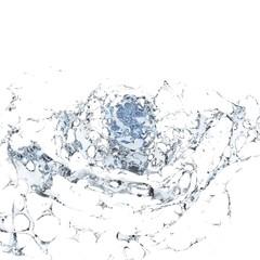 water splashing isolated on white background