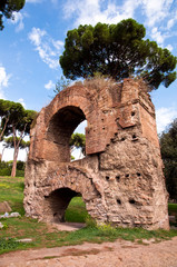 Wall Mural - Ruins from Acquedotto Claudio at Palatine Hill at Rome