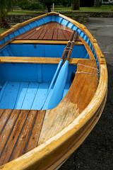 Gozzo, barca tradizionale ligure. Portovenere, Liguria Italia
