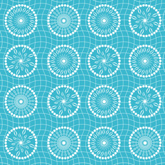 Abstract floral blue flow, seamless background