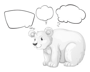 A big bear thinking