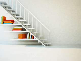 using a space under the stairs