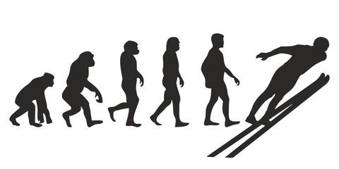 Vom Affen zum Ski Springer (Menschen)