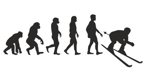 Vom Affen zum Ski Fahrer (Menschen)