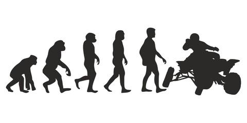 Vom Affen zum Quad Fahrer (Menschen)