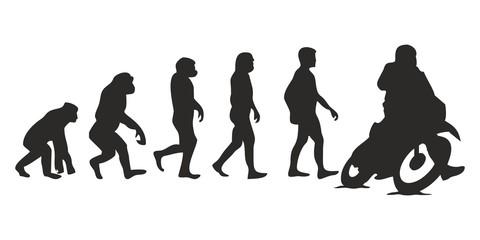 Vom Affen zum Motorrad Fahrer (Menschen)