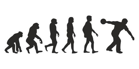 Vom Affen zum Kegel Spieler (Menschen)