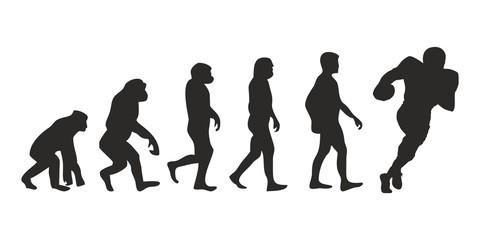 Vom Affen zum Football Spieler (Menschen)