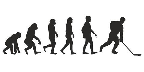 Vom Affen zum Eishockey Spieler (Menschen)