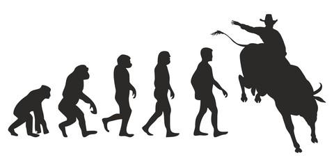 Vom Affen zum Bullrider (Menschen)