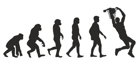 Vom Affen zum Basketball Spieler (Menschen)