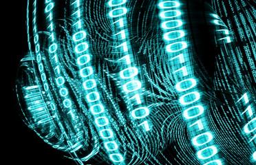 fondo tecnologico abstracto. Codigo binario