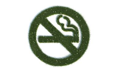 """Rauchen verboten: Serie """"Symbole aus realist. Gras"""""""