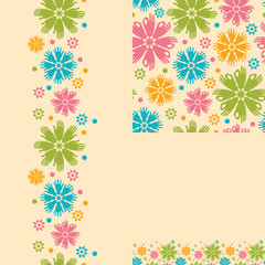 vector Hands in the flowers abstract seamless pattern background