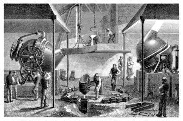 Steel Factory_Fabrication de l'Acier - 19th century