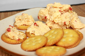 Zippy Pimento Cheese Spread On Crackers