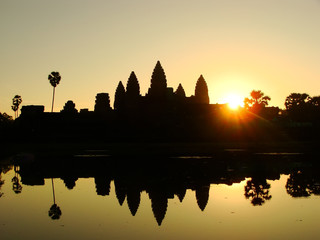 Angkor Wat temple at sunrise, Siem Reap, Cambodia