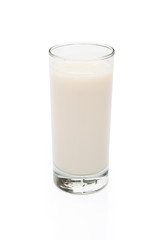 cup of milk with clipping path