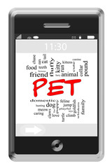 Pet Word Cloud Concept on Touchscreen Phone