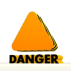 warning triangle icon with warning pattern